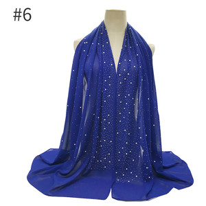 Image 5 - Écharpe en mousseline pour femme, châle en mousseline de soie pour femme, nouvelle mode, style musulman, bandana, 10 pièces, livraison rapide