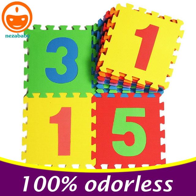10 PCS EVA Puzzle Esteiras De Espuma Esteira Do Jogo Do Bebê Esteira do Enigma Jigsaw Dígitos Toy Jigsaw Para Crianças Tapetes de Espuma PX06