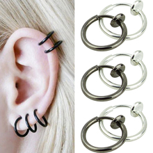 2016 Top Quality Hoop Boby Clip Nose Lip Ear Rings Piercing Punk Style Goth Septum for Men 5SM7 6KCN 7FRE 7NDL