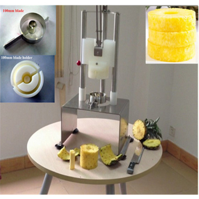 Stainless steel pineapple peeler corer slicer cutter machine  ZF dynamite baits xl pineapple
