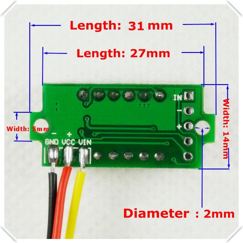 rd green color display led dc 0 100v 0 36 digital voltmeter three rh aliexpress com digital voltmeter wiring diagram Hot Rod Wiring For Dummies