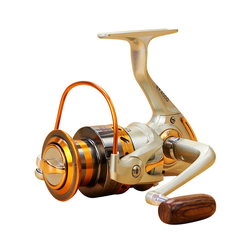 2018 Gapless Spinning Fishing Reel 13BB JF1000-7000 5.5: 1 Metal Carp - Fiske