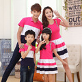2017 On sale summer mother and me daughter dresses clothes matching family clothing outfits family look girl boy son dad tshirt