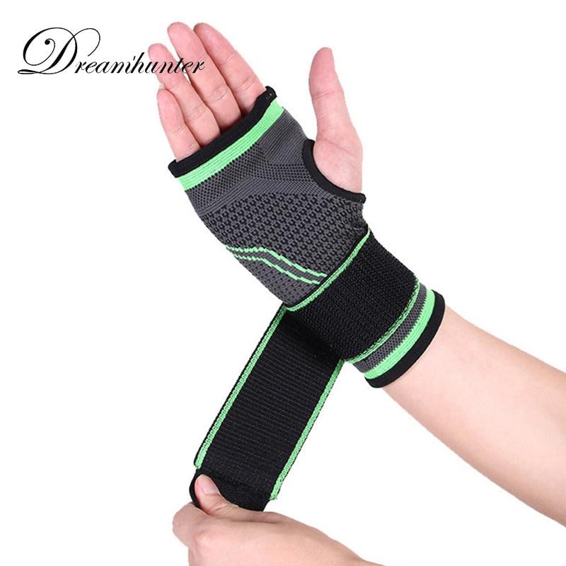 1 pcs 3D weaving straps fitness wristband protecte gym Wristband Sport Professional powerlifting wrist support brace wrist wraps