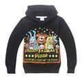 Varejo 2017 New crianças de Cinco Noites no Freddy impresso dos desenhos animados hoodies das camisolas de algodão hoodies moda infantil das meninas dos meninos do bebê