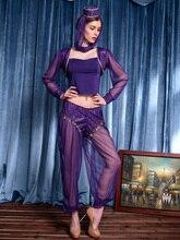 Lencería Sexy Conjunto Traje de la Danza Del Vientre Profesional Top pantalones Dres s Dama Danza Del Vientre Bufanda Árabe de Halloween cosplay