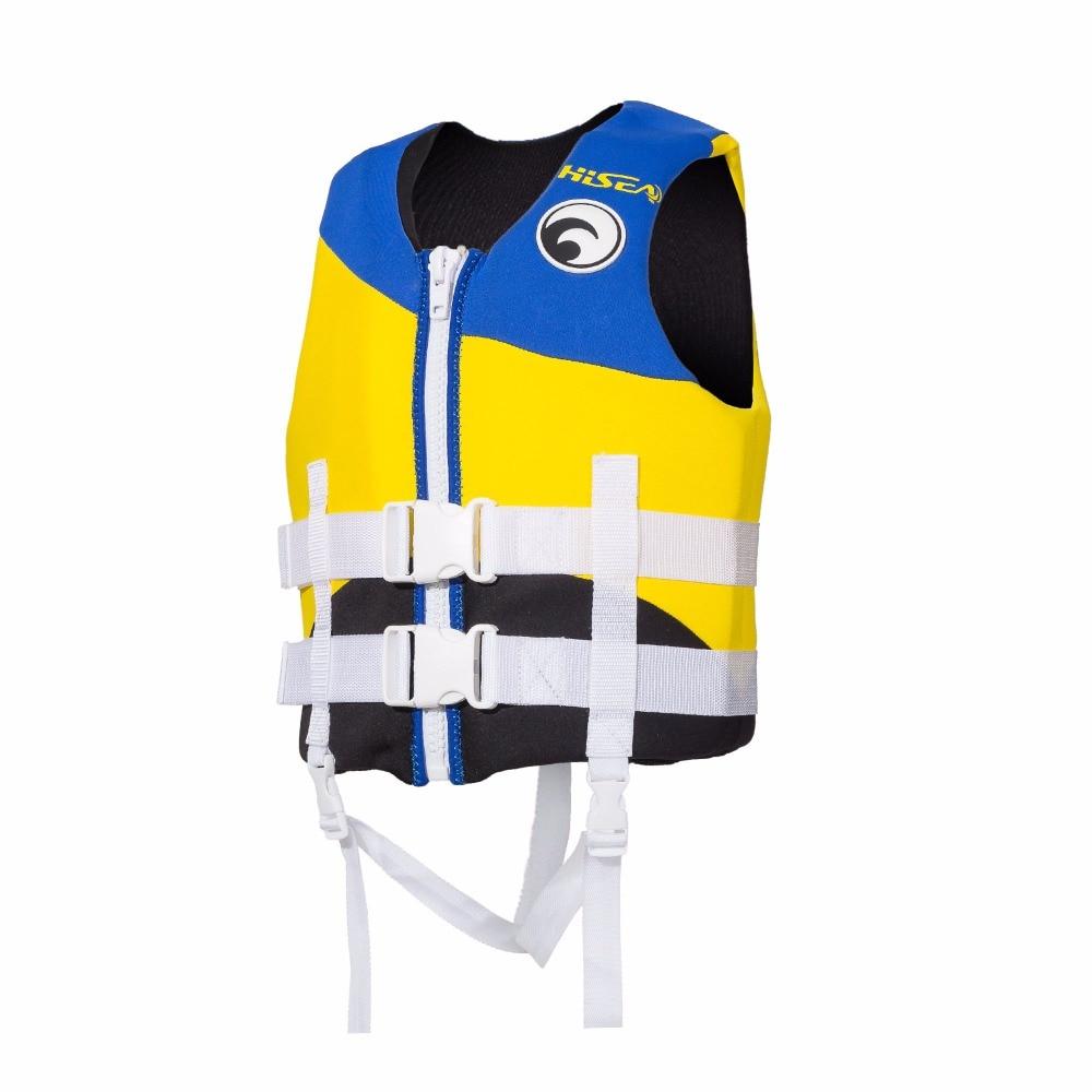 Kids Swim Vest Epe Foam Neoprene Life Vest Boys Girls Blue -5579