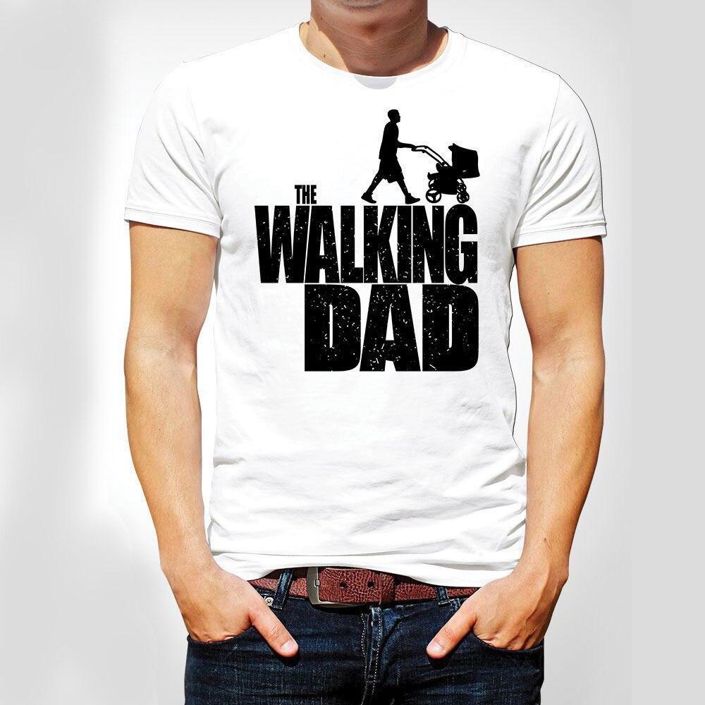 The Walking Dad Parody Father Son Fathers Day Mens TShirt Christmas Xmas White