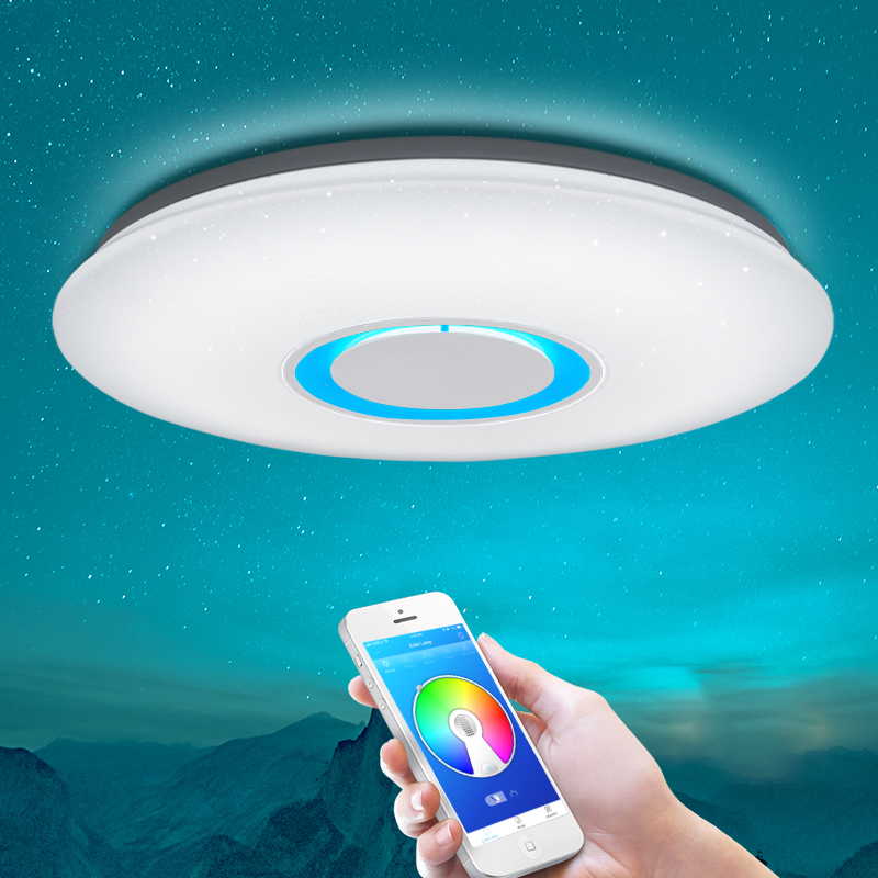 Ceiling Lights & Fans Modern Led Ceiling Lights Rgb Dimmable 25w 36w 52w App Remote Control Bluetooth Music Light Foyer Bedroom Smart Ceiling Lamp