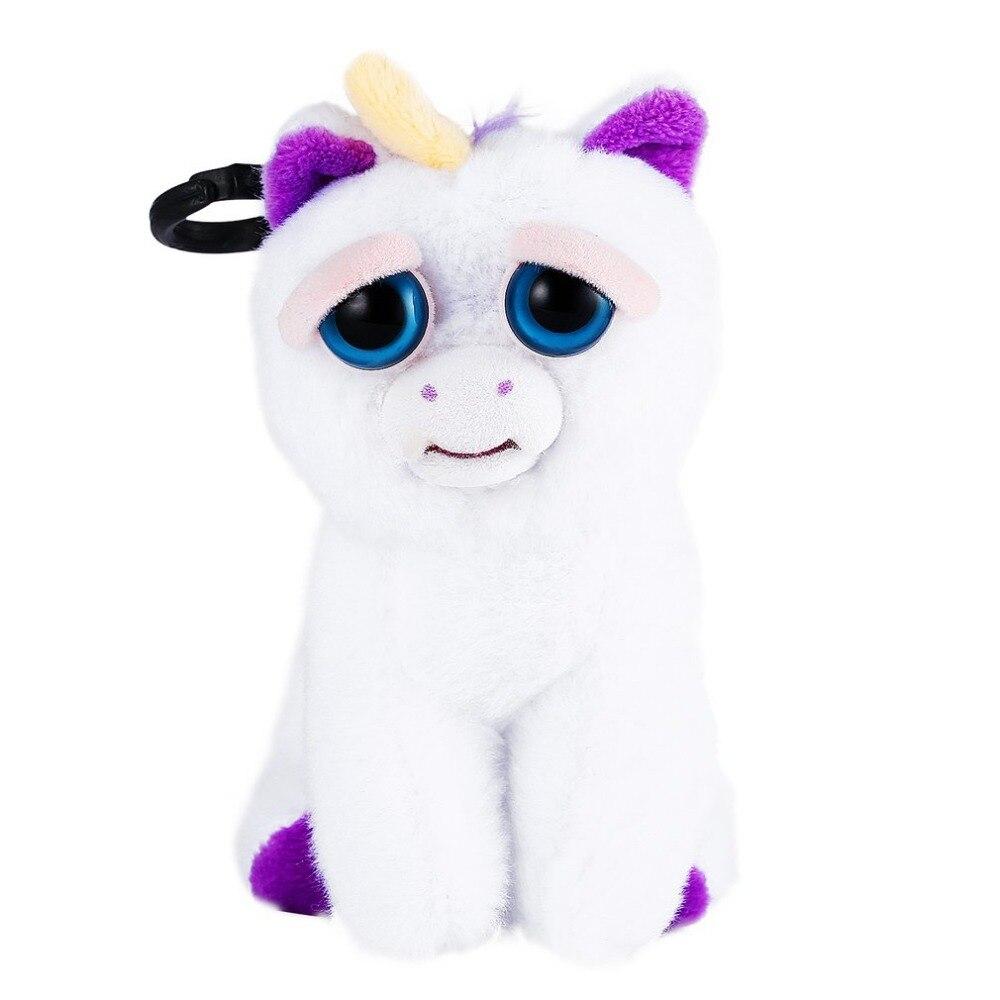 Mini Facial Expression Change Feisty Pets Animal Dolls Plush Toys Unicorn Stuffed For Kids Cute Prank Toy Christmas Gift Hot