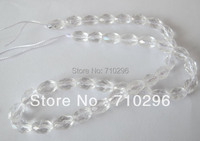 Genuine Clear Quartz Natural Cryatal Beads 6x9mm Faceted Rice Natural Stone Jewelry Making Beads 5strings Lot