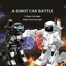 Battle RC toy 10 m control funny Remote Control toy Mini game model Interactive Kid Christmas Charging 25mins Body Sense robot(China)
