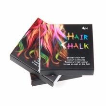 4 Pieces / Set Hair Chalks Easy Temporary Colors Hair Chalk Dye Soft Hair Pastels Kit Hair Beauty Care Women Lady Beauty