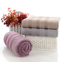 140x70cm Green Bamboo Fiber Antibacterial Mite Removing Black White Stripe Pattern Bath Towel Sport Three Section Pattern Towels