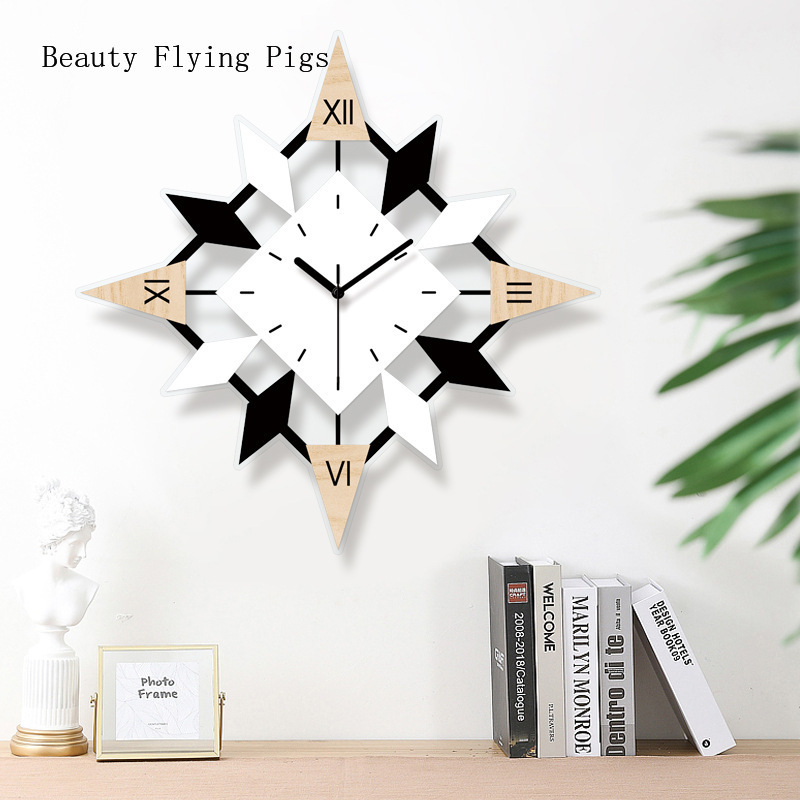 1pcs Ins Simple Living Room Bedroom Mute Selection Of Pollution-free Acrylic Clocks Wall Decoration Light Luxury Art Wall Clock