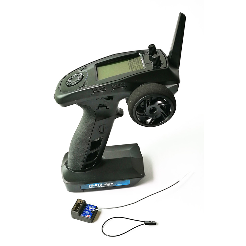 Flysky FS-GT5 2.4 GHz 6CH Trasmettitore con Ricevitore FS-BS6 Built-In Gyro Remote Controller per RC Auto Barca Parti di GiocattoliFlysky FS-GT5 2.4 GHz 6CH Trasmettitore con Ricevitore FS-BS6 Built-In Gyro Remote Controller per RC Auto Barca Parti di Giocattoli