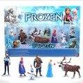 Anna Elsa Hans Kristoff Sven Olaf ação PVC Figure Toy Play Set brinquedos clássicos