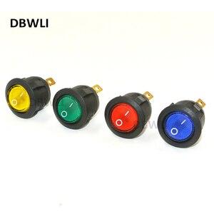10 PCS Blue RED Green Yellow LED Dot Light 220V Car Auto Round ON/OFF Rocker Switch Toggle SPST Switch