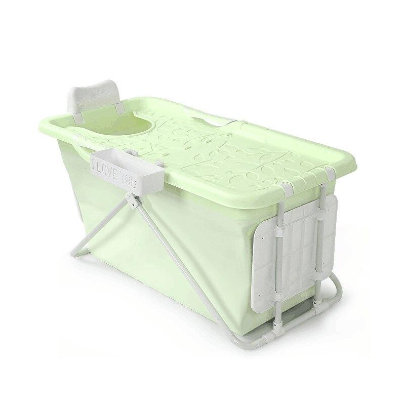 Baignoire adulte pliante isolation baignoire baignoire gonflable bain en plastique qualité alimentaire matériau souple Non toxique lumière de baignoire étanche