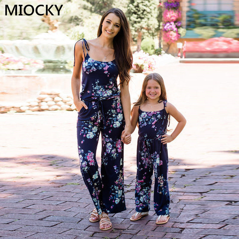 NASHAKAITE-Family-matching-clothes-Bohemian-Print-Shoulder-Bandage-Jumpsuit-Mommy-and-me-Jumpsuits-Mother-and-Daughter (1)