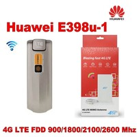 Huawei E398u 1 4G LTE mobile broadband dongle 100Mbps +Indoor New 4G lte MIMO TS9 antenna 49dBi For HUAWEI E398