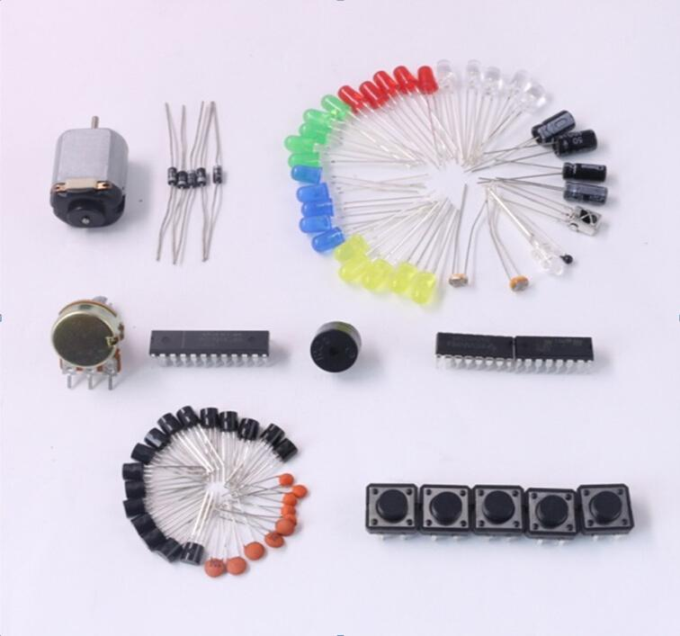 Electronics Fans Package Starter Kit DIY Kit LED Capacitor 74HC595N 1N4001 BC547 Free Shipping