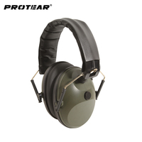Prptear Single Microphone Electronic Hunting Earmuff Shooting Range ArmyGreen Hunting Range Gear Hearing Protection NRR 22dB