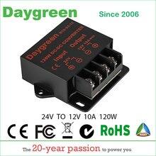 24 V para 12 V 10A 120 W Conversor DC dc Regulador Car Step Down Redutor 24 Dia VERDE Ce certificated V para 12 V 10AMP Módulo