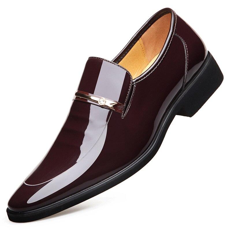 On marrón Mocasines Oxford Cuero Hombre Ka660 De Negro Casuales Moda Slip Negocios Planos Zapatos Los zqIw7