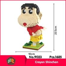 HC9023 1685Pcs Crayon Shin-chan Series Without Original Box Building Blocks Diamond Bricks Toys Compatible With LOZ