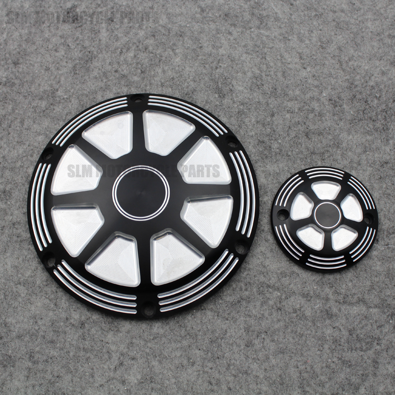 Motorcycle CNC Aluminum clutch side cover engine timing edge cover For Harley Sportster XL 883 1200