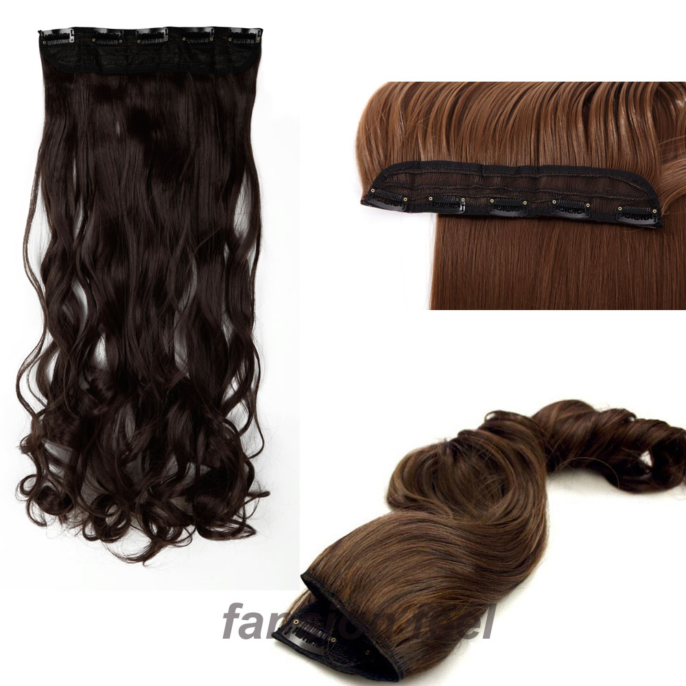 18 28 inches curly wavy hair piece 34 full head clip in hair 18 28 inches curly wavy hair piece 34 full head clip in hair extensions 5 clips on hair extentions real synthetic in synthetic clip in one piece from hair pmusecretfo Image collections