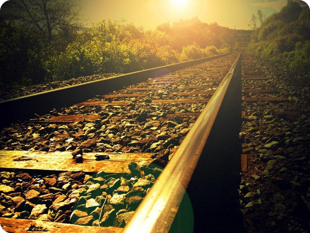 7x5ft Vinyl Custom Railway Theme Photography Backdrops Prop Photo Studio Background NTG-125