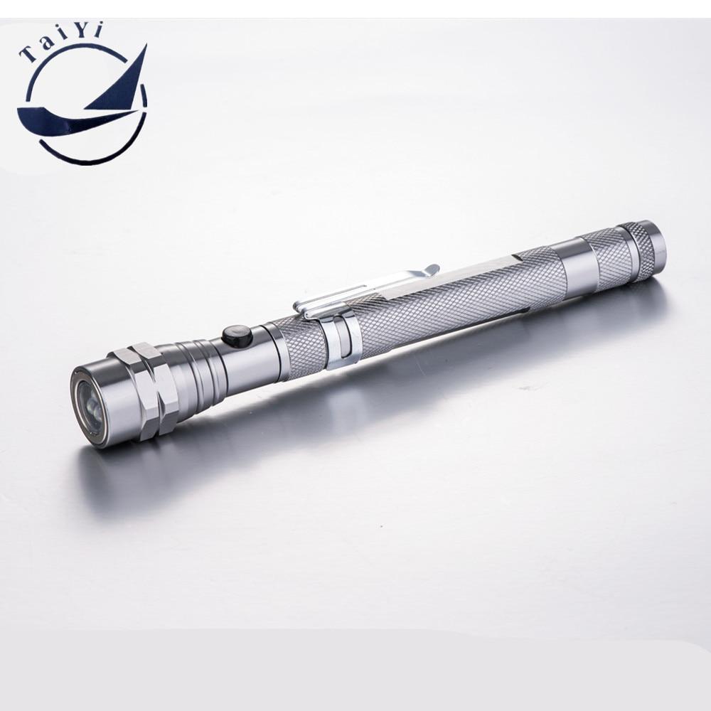 [YAIYI] नई टेलीस्कोपिक फ्लेक्सिबल 3 एलईडी टॉर्च टॉर्च मैग्नेटिक पिक अप टूल लाइट जीए मिनी फ्लैशलाइट के साथ