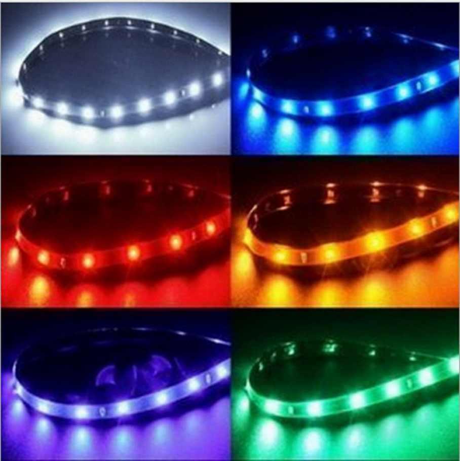 5 color 30cm 15 LED strip 5050 3528 DC 12V waterproof flexible light DIY Tape Daytime Running Lamps Auto Car DRL light Fog lamp