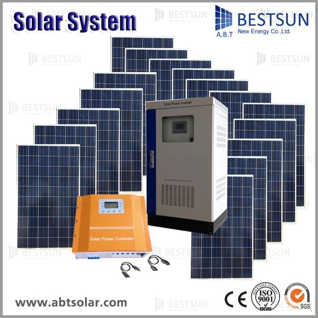 Off Grid Pv Solar Inverter Price 15kw Solar Power System