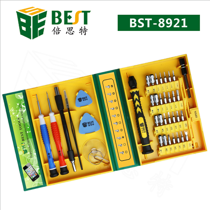 BEST BST-8921 38 in 1Precision Multipurpose Screwdriver Set Repair Tool Kit Fix For iPhone laptop smartphone watch with Box Case