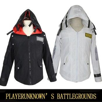 Cosplay PUBG abrigo chaqueta PUBG Cosplay juego Anime disfraz Hoodie Nylon versión bufanda máscara Halloween Anime mujeres hombres