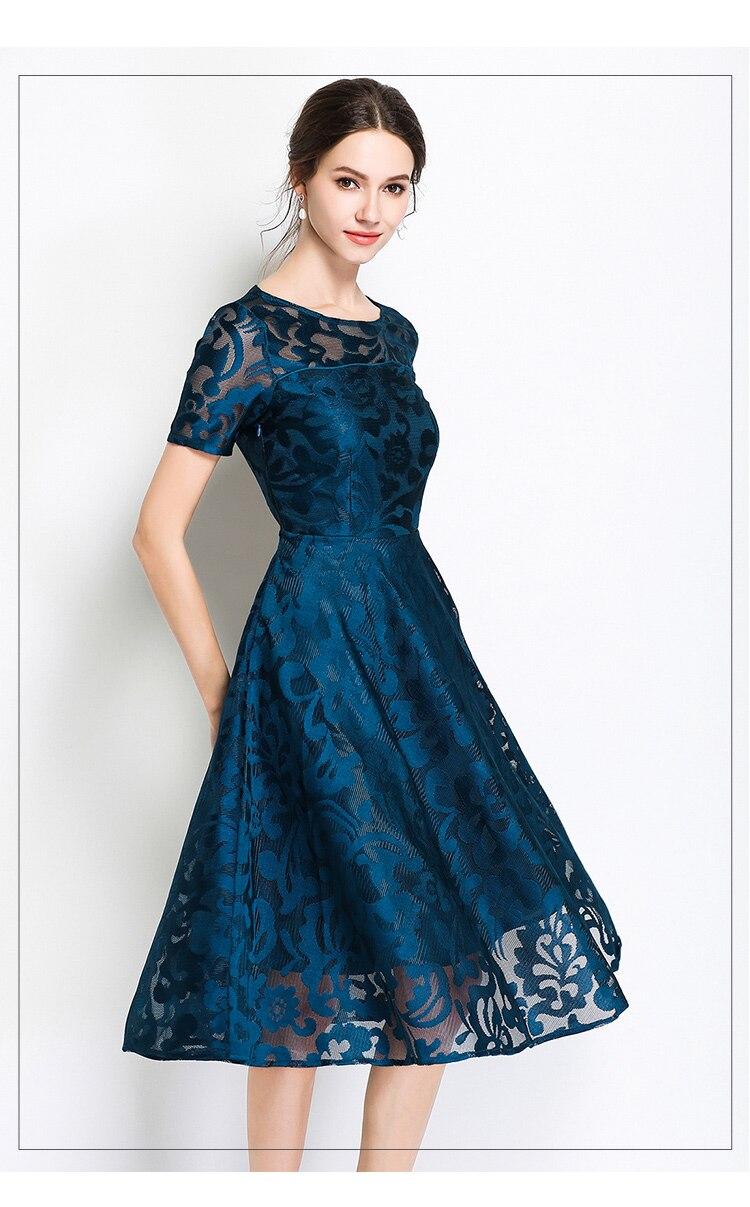 Fitaylor 2018 Elegant Evening Party Dresses Women O Neck Short Sleeve Plus  Size 5xl Summer Floral fd4741492a1a