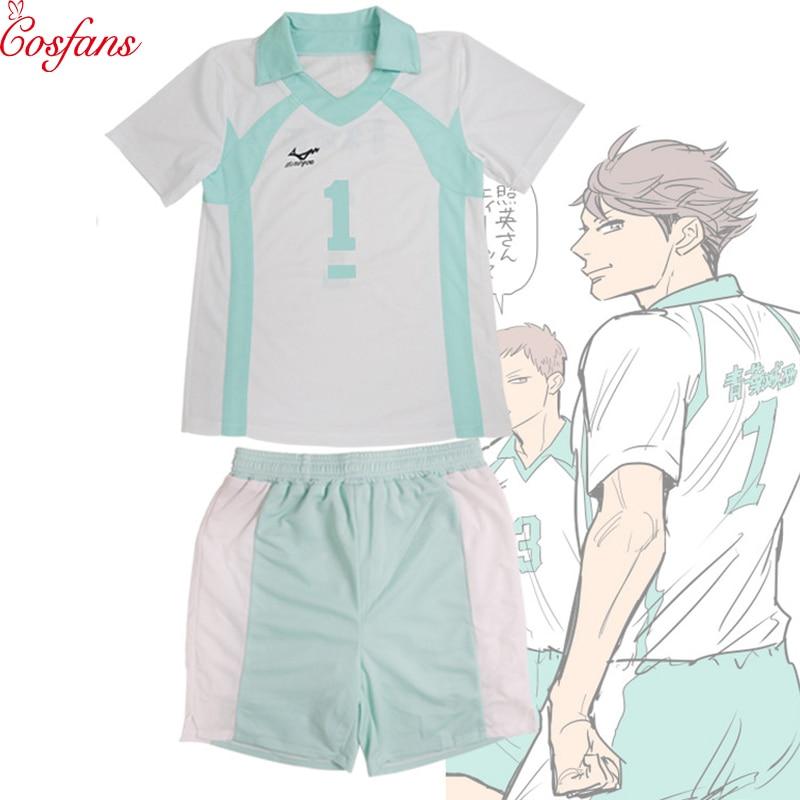 Haikyuu Aoba Johsai Oikawa Tooru School Uniform Jersey Sportwear Cosplay Costume