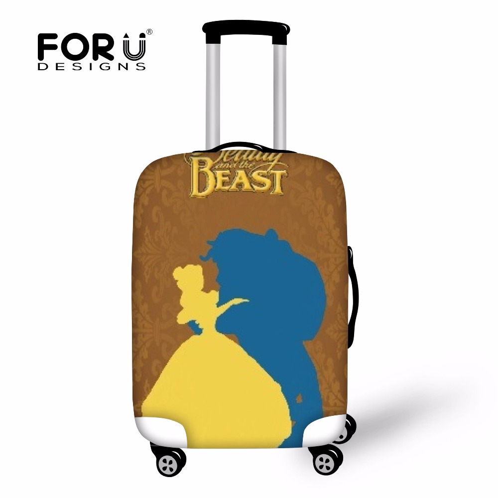 FORUDESIGNS Beauty And The Beast Case Cover Travel Accessories Luggage Protector Elastic Suitcase Covers For Women Men Wholesale