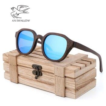 Lunettes de soleil écologiques pour hommes, lunettes de soleil en bambou naturel essentiel au voyage фото