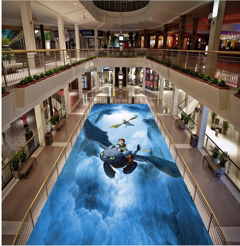 ФОТО Sky Custom photo floor wallpaper 3d waterproof floor Custom Photo self-adhesive 3D floor PVC waterproof floor