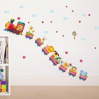 Детские размеры Ростомер рост ребенка измерения высота линейка настенная бумага Милая мультяшная Наклейка на стену - Цвет: D