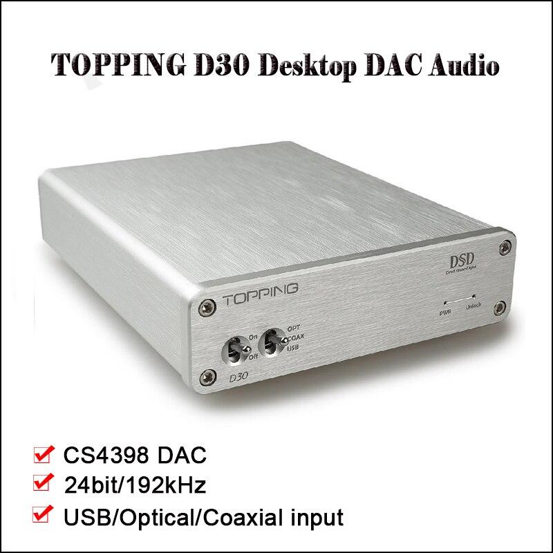 TOPPING D30 HIFI DSD DAC Amp Decoder CS4398 XMOS USB DAC Audio Decoder Coaxial Optical Fiber 24Bit/192KHz TOPPING D30 HIFI DSD DAC Amp Decoder CS4398 XMOS USB DAC Audio Decoder Coaxial Optical Fiber 24Bit/192KHz