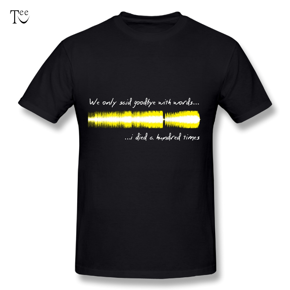 Cool Mens Sound WAV - Amy Winehouse Tees Great Design Tee Shirts Nice Short-sleeved 3D Print Top design Tee