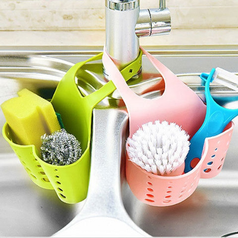 Hot Sale Portable Kitchen Hanging Drain Bag Basket Bath Storage Gadget Storage Bag Organizer Tools Sink Holder Lw02281110