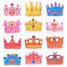 EVA foam paper блестки корона творческие цветы Звезды узоры Детский Сад Искусство Дети DIY игрушки украшения для вечеринки сделанные своими руками подарок