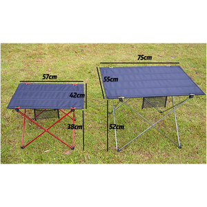 Image 5 - 2 Sizes Camping Table Portable Foldable Folding Tables Hiking Traveling Outdoor Picnic Desk Professional 6061 Aluminium Alloy