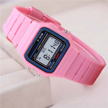 Pink Children Digital Watches Silicone Strap Boys Girls Electronic Watc